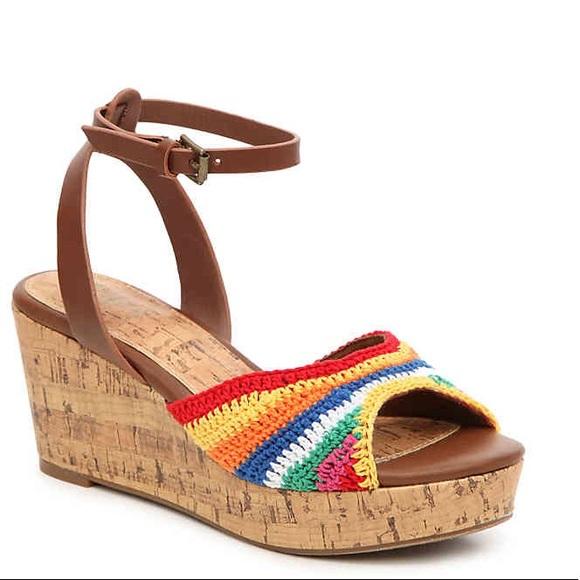 ffdb5cae49d5 Forever 21 Shoes - Rainbow platform sandals